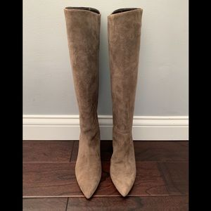 NEW Kate Spade Taupe Suede Knee High Boots